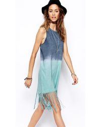 Asos Swing Dress with Festival Fringe - Lyst