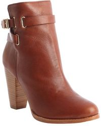 Joie Cognac Leather Easton Ankle Boots - Lyst