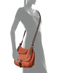 Longchamp Balzane Roots Leather Crossbody Bag Cognac - Lyst