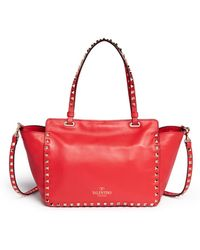 Valentino 'Rockstud' Small Leather Tote - Lyst