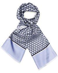 Façonnable Geometric-Print Silk Scarf blue - Lyst