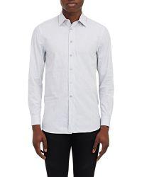 Façonnable - Melange Poplin Shirt-Grey Size 17 - Lyst