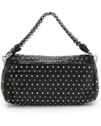 What Goes Around Comes Around Prada Studded Shoulder Bag - Black - Lyst