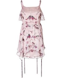 Anna Sui Silk Blend Sparrows Dress - Lyst
