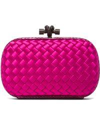 Bottega Veneta Pink Knot Clutch - Lyst
