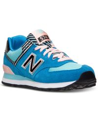 New Balance Women'S 574 Casual Sneakers From Finish Line blue - Lyst