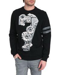 Diesel Eleni Black Printed Number Sweater - Lyst