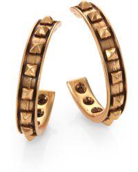 Oscar de la Renta Stud Hoop Earrings2 - Lyst