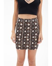 Forever 21 Tribal Print Skirt - Lyst