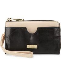 Badgley Mischka - Tami Glazed Leather Zip Wallet - Lyst