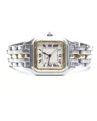 Cartier Pre-owned Panthere Two Tone Watch - Lyst