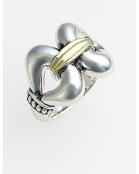 Lagos 'Derby' Large Buckle Ring silver - Lyst