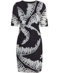 Whistles Bamboo Sophia Bodycon Dress black - Lyst