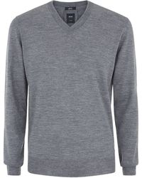 Boss Black T-taurino V-neck Sweater - Lyst