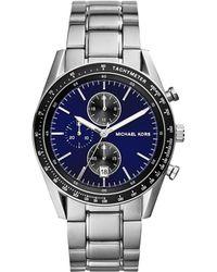 Michael Kors Mens Chronograph Accelerator Stainless Steel Bracelet Watch 38mm - Lyst