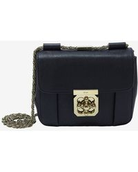 Chloé Elsie Small Shoulder Bag Black - Lyst