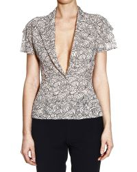Dior  Short Sleeve Lace Jacket - Lyst