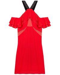 Pixie Market Scarlet Off The Shoulder Dress - Lyst
