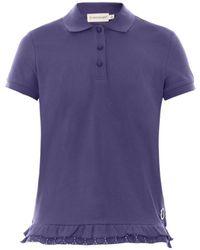 Moncler Cotton-Piqué Polo Shirt - Lyst