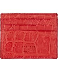 Barneys New York Alligator Card Case - Lyst
