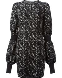Alexander McQueen Ivy Jacquard Mini Dress - Lyst