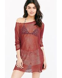 Truly Madly Deeply Off-The-Shoulder Netted Tunic Top - Lyst