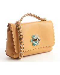 Mulberry Biscuit Brown Leather Daisy Buckle Shoulder Bag - Lyst