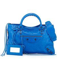 Balenciaga Classic City Bag blue - Lyst