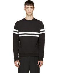Giuliano Fujiwara - Black Striped Sweatshirt - Lyst