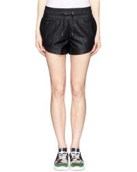 Helmut Lang Perforated Lambskin Leather Shorts - Lyst