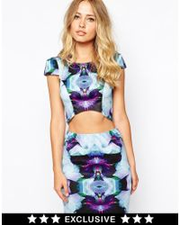 Ginger Fizz - Mad With Desire Structured Crop Top - Lyst