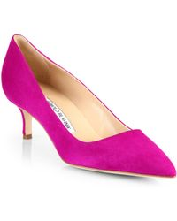 Manolo Blahnik Bb Suede Pumps - Lyst
