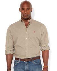 Polo Ralph Lauren Big And Tall Long Sleeve Plaid Twill Shirt - Lyst