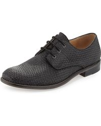John Varvatos Sid Woven Lace-Up Derby Shoe - Lyst