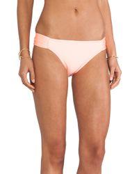 Shoshanna Coral Solid Bikini Bottom - Lyst