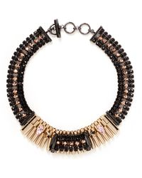 Iosselliani Pyramid Stud Crystal Collar Necklace - Lyst