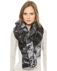 Rag & Bone Distortion Jacquard Scarf Black - Lyst