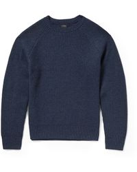J.Crew Waffle-knit Cashmere Sweater - Lyst
