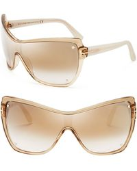 Tom Ford Ekaterina Mirrored Shield Sunglasses - Lyst