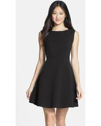 French Connection 'Feather Ruth' Fit & Flare Dress - Lyst