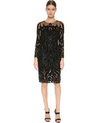 Notte by Marchesa | Long Sleeve Dress - Black | Lyst