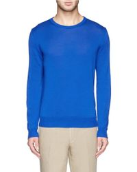 Canali Cotton Crew Neck Sweater - Lyst