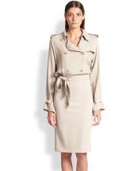 Max Mara Afosi Silk Trench Dress - Lyst