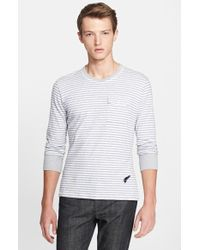 Michael Bastian Stripe Long-Sleeve Pocket T-Shirt - Lyst