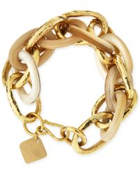 Ashley Pittman Ndovu Light Horn  Bronze Bracelet - Lyst