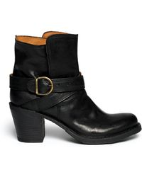 Fiorentini + Baker Nubis Eternity Leather Ankle Strap Boots - Lyst