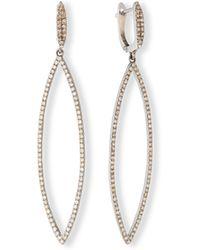 Siena Jewelry | Pavé Diamond Marquise Drop Earrings | Lyst