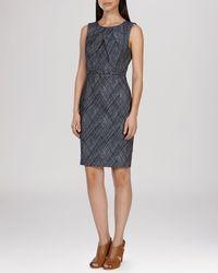 Karen Millen Dress - Crosshatch Texture blue - Lyst