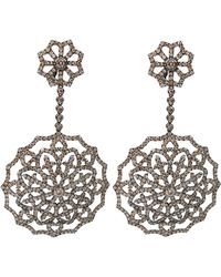 Bochic - Mixed Diamond Snowflake Drop Earrings - Lyst
