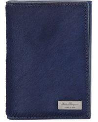 Ferragamo Luxor Calf Hair Card Case - Lyst